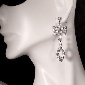 ✨NEW!✨ Rhinestone Bow Earrings ✨